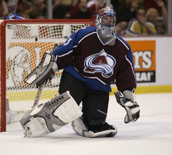 Patrick Roy of the Colorado Avalanche achieves his 448th victory as a goalie in the NHL. Roy passed Terry Sawchuck to become the record holder for career victories.