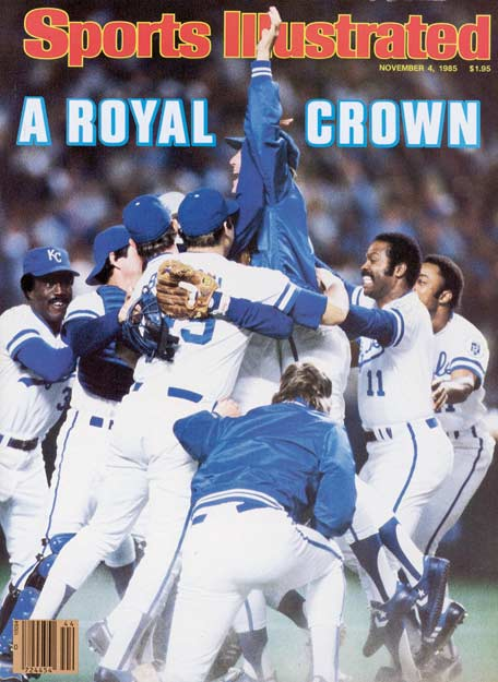 Bret Saberhagen and the Kansas City Royals beat St. Louis in seven games to claim the franchise's first World Series title.