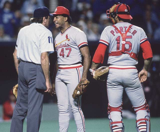 Joaquin Andujar is suspended for the first 10 games of next season after bumping Don Denkinger twice during his World Series Game 7. The Cardinals pitcher was angry with the home plate umpire over ball and strike calls.
