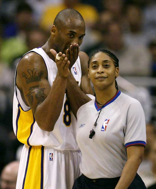 Violet Palmer becomes the first woman to officiate an NBA game.