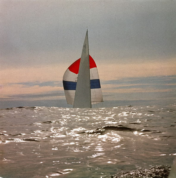 A native New Zealander, George Silk developed new technological approaches to picture-taking and was renowned for being able to immerse a viewer in the action. Here, you are on the water as the yacht Nefertiti competes in the America's Cup trials. The boat lost, but there's a happy postscript: Restored, she still races in the seas off Newport, R.I.