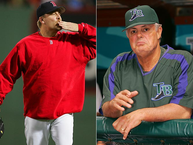 "Two days after the multiple beanings, Sox pitcher Curt Schilling blasted Lou Piniella, saying Piniella is ""a manager who somehow forgot how the game is played"" and claiming Rays players referred to their skipper as ""this idiot."" In response, Piniella said that he had ""forgotten more baseball"" than Schilling knew and called it a ""cheap shot."""