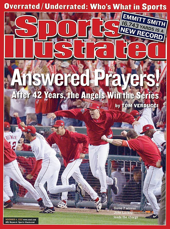 San Francisco was seven outs away from winning its first World Series when the Angels roared back from five runs down to send the series to Game 7, which it would win. Barry Bonds went 8-17 with four home runs, and the series featured four one-run games, including an 11-10 Game 2.