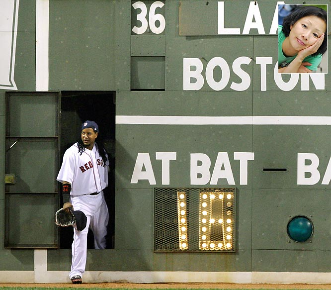 """I can't wait to see Manny Ramirez take a celebratory leak on the Green Monster in a Dodgers uniform."""