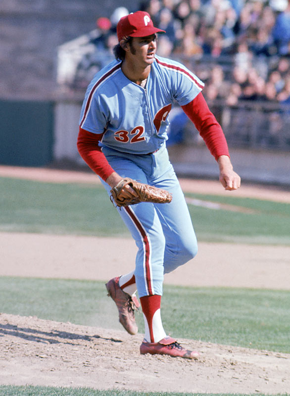 The Phillies ace led the league in 1972 with 30 complete games, 310 strikeouts and 27 wins -- nearly half of the team's 59 wins that season.<br><br>Send comments to siwriters@simail.com.