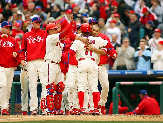 After opening their NL East title defense with two straight losses to the Nationals, the Phillies logged their first victory of the season somewhat unconventionally: with a bases-loaded walk in the bottom of the 10th.