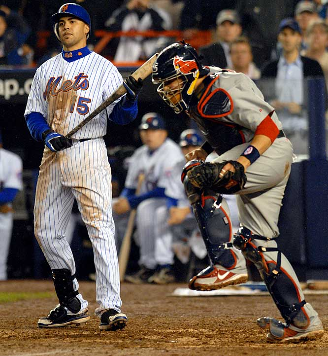 Two years prior, the Cards had won 105 games, yet it would be the 83-win squad that would win the World Series. To get there,St. Louis had to beat a heavily-favored Mets team that was weakened by injuries to its starting rotation. Light-hitting Yadier Molina hit a two-run homer in the ninth inning of Game 7 at Shea Stadium, which proved to be the game winner when Carlos Beltran and Co. couldn't answer it.