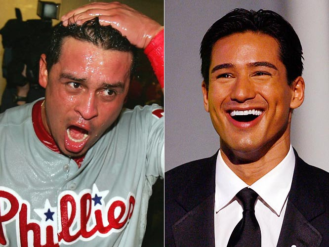 Phillies catcher Carlos Ruiz didn't exactly tear the cover off the ball this season, hitting .219 with four home runs in 117 games for the NL champs, but he still has more pop than...<br><br>Mario Lopez. The former Saved by the Bell star has hosted Miss America and Miss Universe, and has competed on Dancing with the Stars and American Gladiators. He also auditioned to host The Price is Right, but the gig went to Drew Carey.