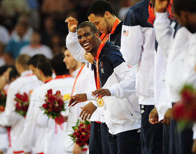 Chris Paul came off the bench during Team USA's gold medal run in Beijing, but he played the third-most minutes (behind LeBron and Kobe) and led the squad in assists.