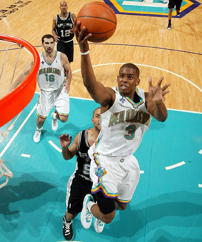 During the '07-08 season, Paul led the Hornets to their best record in franchise history, 56-26, their first playoff appearance in four years, and the number two overall seed in the Western Conference.