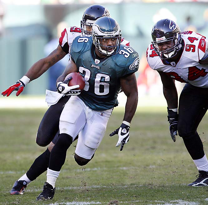 Brian Westbrook had a huge game Sunday as the Eagles' racked up 192 rushing yards against the Falcons. Westbrook accounted for a career-high 167 of those yards (plus another 42 receiving) and two touchdowns in the Eagles' 27-14 win over Matt Ryan and the Falcons.