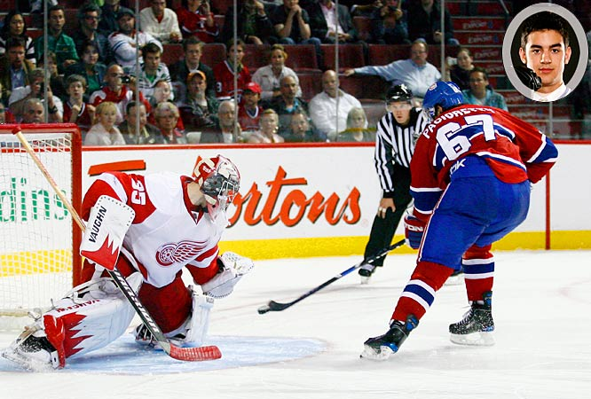 Even an impressive performance in camp couldn't save the burly 19-year-old winger from assignment to the minors. The demotion was more a reflection of the absence of a spot in Montreal's top nine than any deficiency in his play. Though he'll start the season in Hamilton, it's inevitable that an injury will offer Pacioretty the chance to make his NHL debut this season.