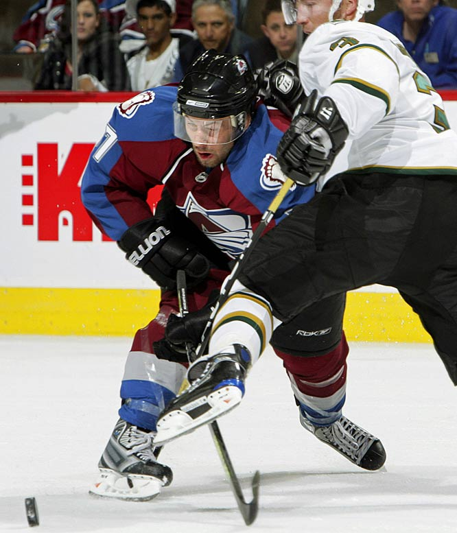 It tells you all you need to know about Colorado's feeder system that the only ''rookie'' with a chance to crack the roster isn't much younger than that guy who's planning to retire next spring. Ledin is a 30-year-old vet of the Swedish circuit, but unlike last year's Euro-flyer Jaroslav Hlinka, he doesn't arrive with a recent scoring title to his credit. He'll likely be relegated to an energy role on the fourth line.<br><br>Send comments to siwriters@simail.com.