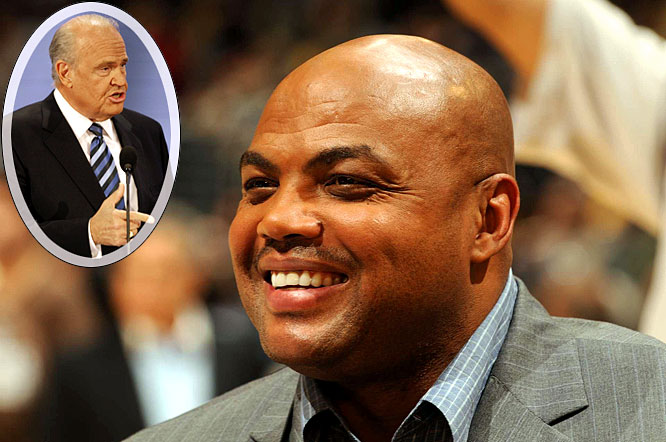"The ""Round Mound of Rebound"" has made his fair share of controversial comments during his career although he's never had to address them in a courtroom. Until now, well, sort of. Barkley was in Los Angeles last week filming a commercial for ""NBA on TNT"" where he sits in a faux courtroom during a congressional hearing, answering questions from former U.S. Senator and presidential candidate Fred Thompson. ""It was cool working with Fred Thompson,"" Barkley told me in between takes. ""I liked him in ""Law & Order"" and I almost forgot the guy just ran for president."" While Thompson questions Barkley about a number of the controversial comments Barkley has made while he's been on the show, Barkley admits he doesn't understand why everything he says gets so much attention. ""I don't like that because I don't consider myself controversial,"" said Barkley as he enjoyed a cheese plate in his trailer. ""I'm always surprised when people make a big deal of what I say. I'm just trying to have fun and make sure that people watching basketball are having a good time. I'm just talking about basketball here. It's not like we're curing cancer."""