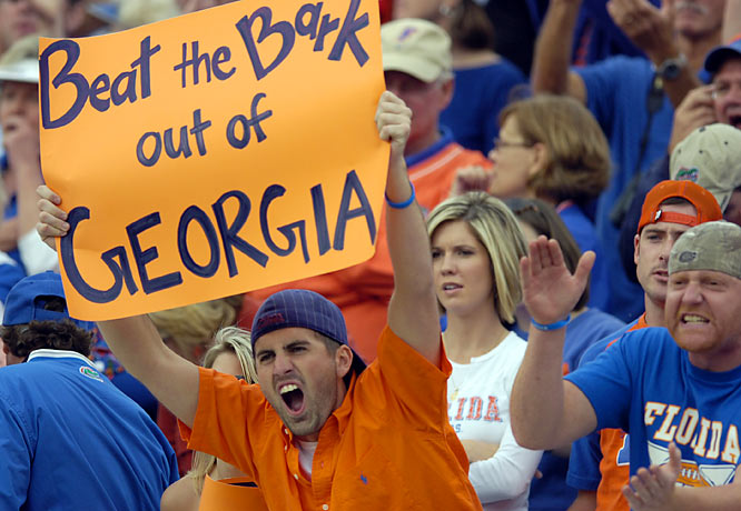 Florida took this fan's advice and silenced Georgia on Saturday night.