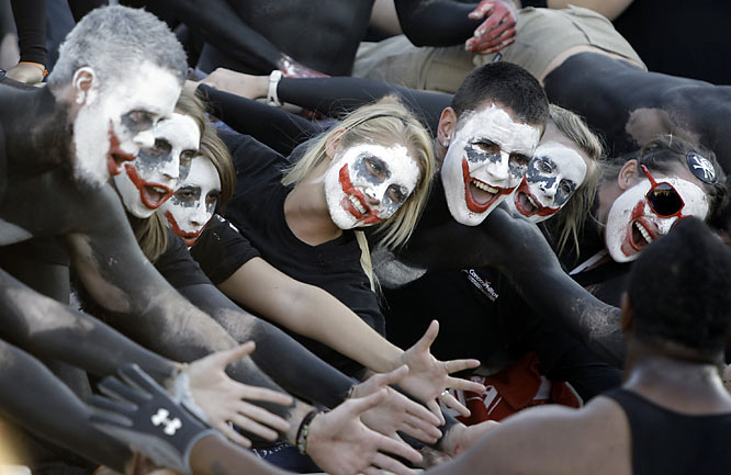 Texas Tech fans have joined the Joker face-paint craze sweeping the nation.