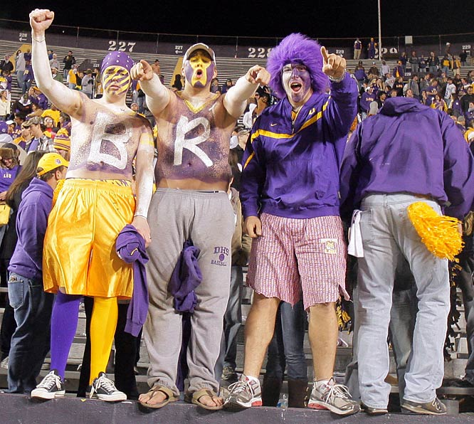 LSU had to come from behind to beat Troy, but these fans were there for the long-haul.