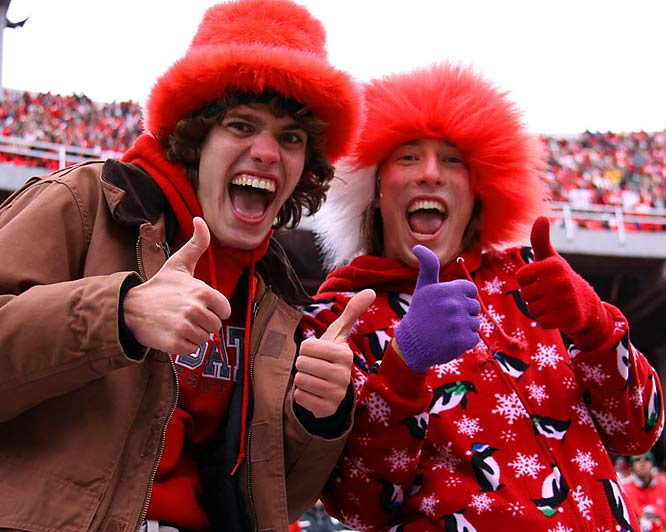 This hasn't been quite the season Ohio State had hoped for, but Buckeye fans have slapped on the hats, mis-matched gloves and smiles anyway.