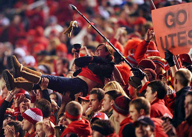 When your team wins its 12th game and sures up a BCS berth, crowd surfing is required.