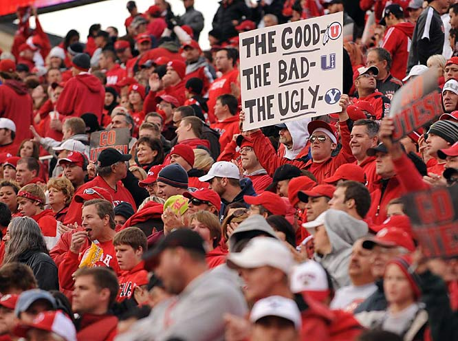 "Not exactly shocking that this Utah fan decided BYU should fill ""The Ugly"" slot on this sign."