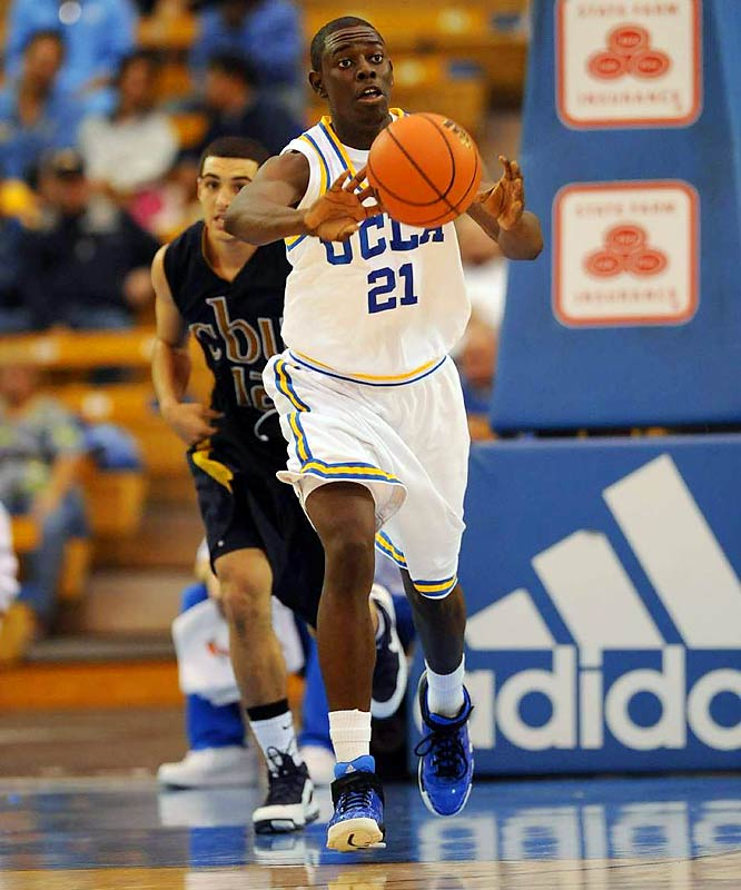 Let's be clear. There is no Derrick Rose, Michael Beasley or O.J. Mayo in this freshman class.  But that doesn't mean that there's not a few who will contribute right away.  Rivals.com ranks B.J. Mullens on top of the class, but our scouts say keep an eye on Jrue Holiday (pictured) at UCLA. DeMar DeRozen softens the blow of losing Mayo at USC, Delvon Roe could turns heads at Michigan State and Tyreke Evans will try his best to take Memphis back to the Final Four