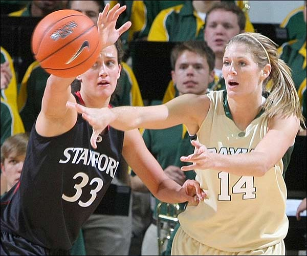 Rachel Allison scored 20 first-half points as No. 19 Baylor got some revenge on a No. 2 Stanford team that embarrassed the Bears last season.  Baylor trailed for only a few seconds during the game, swiping the season-opener from Stanford, 81-65.