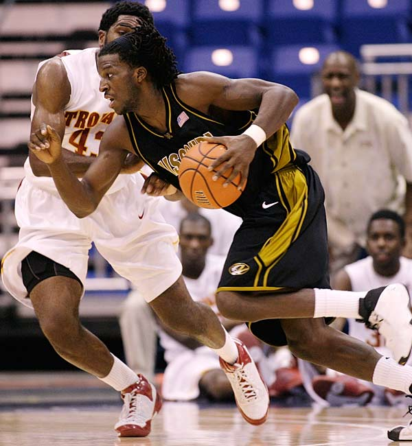 USC blew a halftime lead and fell to DeMarre Carroll (pictured) and Missouri at the Puerto Rico Tip Off.  It was the Trojans' second upset of the Tip Off -- on Thursday they were tripped up by Seton Hall, 63-61.