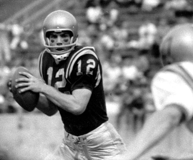 The 1963 Heisman Trophy winner completed 292 of 463 passes at Navy, with only 19 interceptions. He led the 9-1 Midshipmen to the Cotton Bowl his junior season, where they lost to Texas.