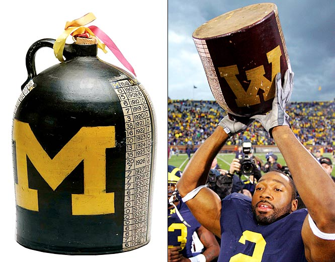 Michigan Wolverines vs. Minnesota Golden Gophers    Trophy introduced in 1903.