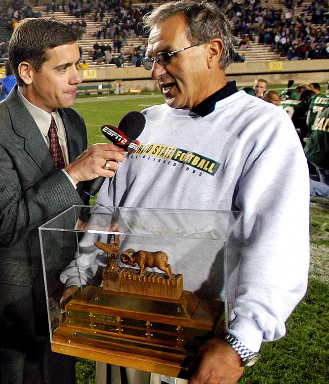 Colorado State Rams vs. Air Force Falcons   Trophy introduced in 1980.