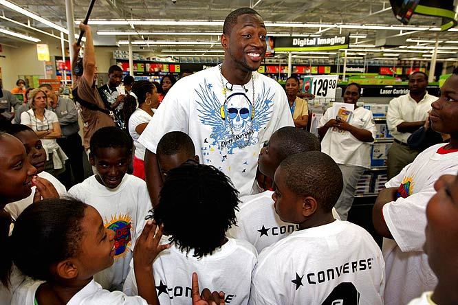 The Wade's World Foundation provides support to community-based organizations that promote education, health and social skills for children in at-risk situations. Wade has hosted week-long free basketball camps, partnered on park improvement programs and donated shoes and clothing to Katrina victims.<br><br>Send comments to siwriters@simail.com.