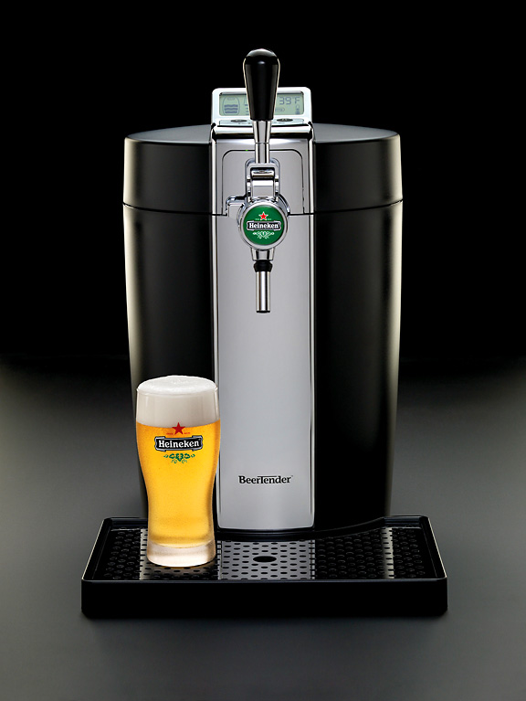 Get ready for frothy beer from any countertop thanks to this handsome BeerTender from Heineken. It delivers the perfect pour, while featuring a volume indicator, so you know just how much beer is remaining. Yep, Dad just became the coolest guy in the room.