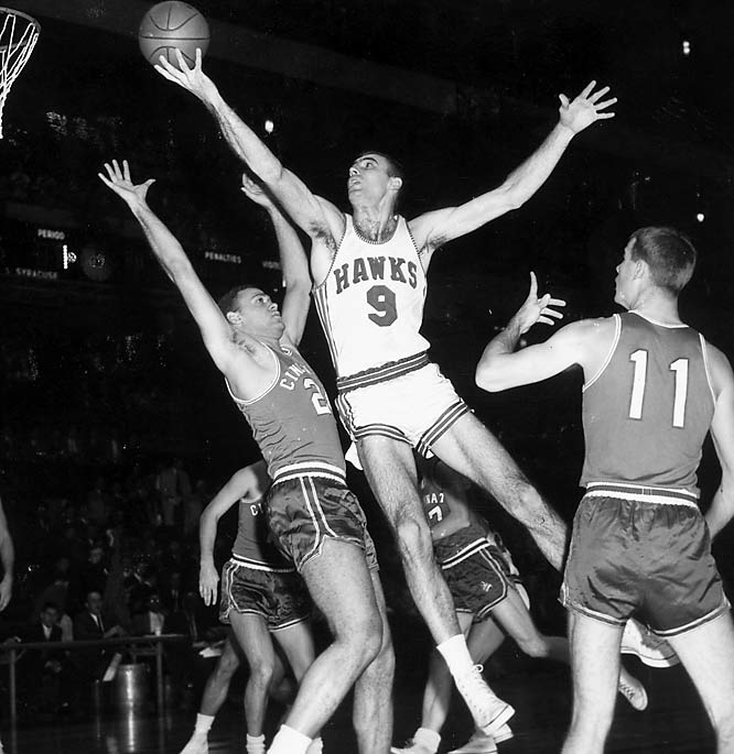 St. Louis Hawks forward Bob Pettit becomes the first NBA player to score 20,000 career points.