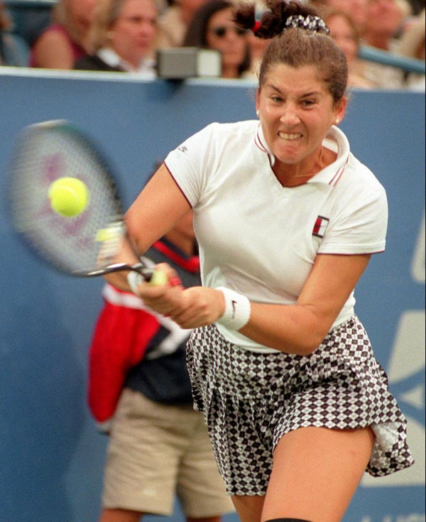 Monica Seles sets a record for earnings on the women's tour, taking home $2,457,758 for the calendar year.