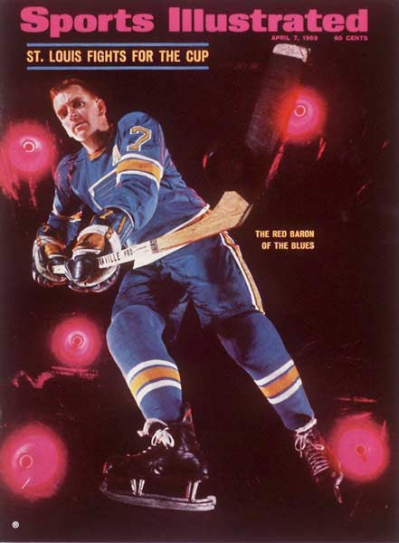 Red Berenson of the St. Louis Blues scores six goals in a 8-0 victory over the Philadelphia Flyers.
