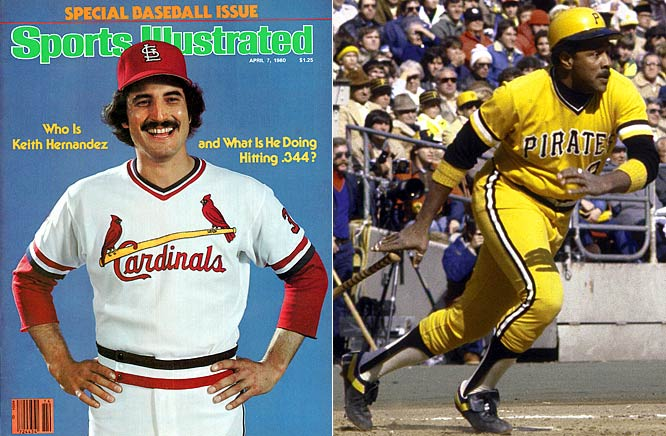 In the only tie in MVP history, Keith Hernandez of the Cardinals and Willie Stargell of the Pirates each earned 216 votes. They took different paths to the award, though. Hernandez combined Gold Glove defense with a league-best .344 average and 116 runs. For his part, Stargell belted 32 home runs and helped lead the Pirates to a World Series crown.