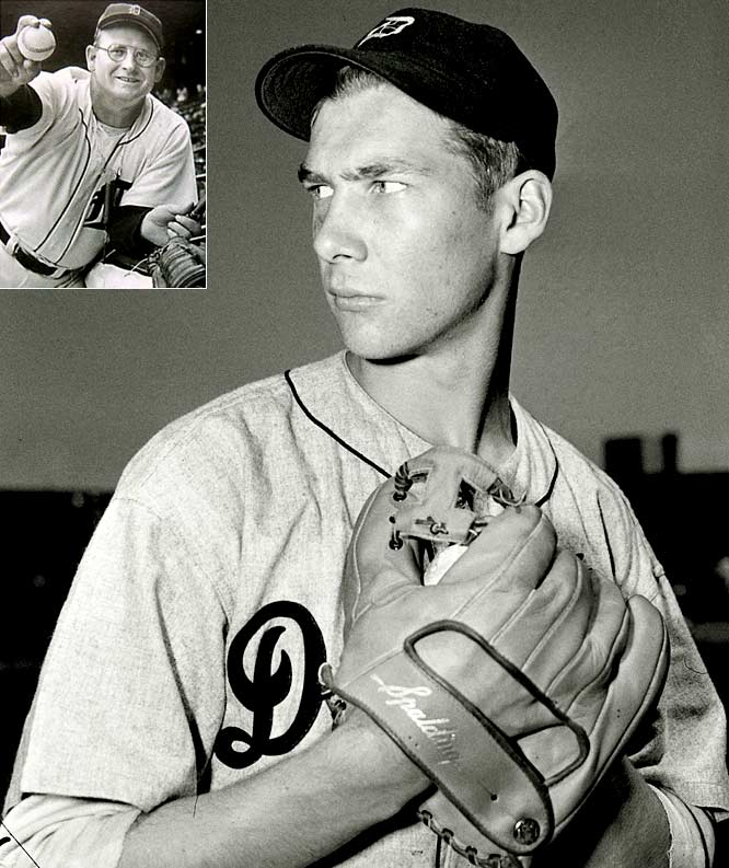 The only pitcher to win back-to-back MVP awards, Hal Newhouser won his first by just four votes over his Tigers' teammate, Dizzy Trout. Newhouser finished the season with a 29-9 record, a 2.22 ERA, 25 complete games and a league-best 187 strikeouts. Trout bested him in ERA (2.12) and complete games (33), but finished 27-14.
