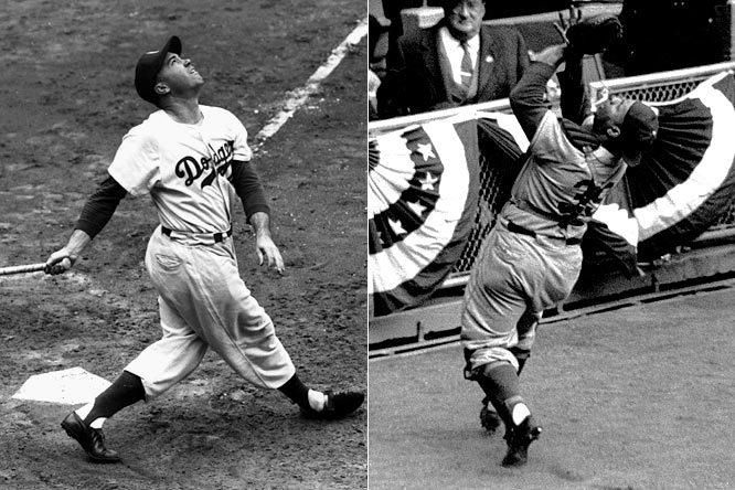 In the Dodgers' lone championship season in Brooklyn, the club had the numbers one and two vote-getters in the MVP race. Duke Snider finished the campaign with more home runs, RBI and runs scored, but Roy Campanella's leadership behind the plate helped earn him his third MVP award, this one by just five points.