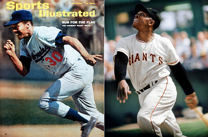 In 1962, the Giants beat the Dodgers in a three-game playoff for the National League pennant and Willie Mays posted the highest RBI total of his career in 1962 (141), batted .304 and hit 49 home runs -- the third highest total of his 22 seasons -- but Maury Wills beat him by seven points in MVP voting. For the season, the Dodgers' speedster batted .299, scored 130 runs set a new major league record with 104 stolen bases.