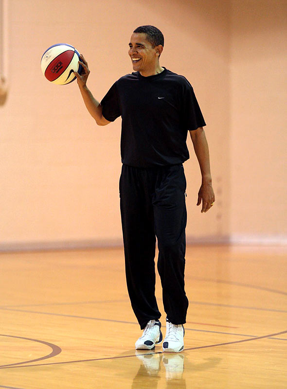 Nominated by Seth Davis<br><br>''Obama spent much of his teenage years seeking out pickup games at playgrounds and rec centers around his native Honolulu. In his memoir <i>Dreams from My Father</i> he wrote of how the city game taught him truisms about life that his absent father could not. And in 2008 Obama put the rules of the asphalt to the ultimate test, betting his career on the belief that American voters would judge him not on the color of his skin but on whether he had the skills and the toughness they wanted in a president. When he hit the electoral game point on Nov. 4, he made history by winning the right to become America's first-ever Hoopster-in-Chief.''