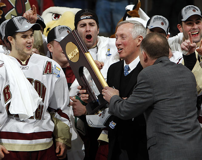 "Nominated by Kevin Armstrong<br><br> ""For the past 14 years at Boston College, his alma mater, York, a Watertown, Mass. native in his 38th season as a head coach, has been the New England area's quietest -- if not most consistent -- winner. Riding on long bus trips and playing to parochial crowds passionate about their pucks, he has embodied the best that college athletics has to offer: purity in winning and teaching."""
