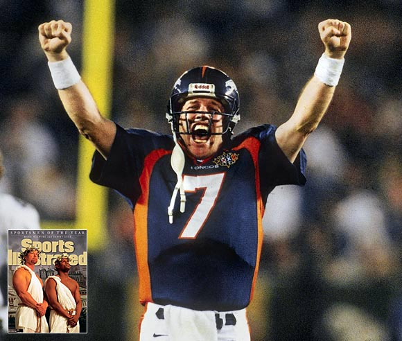 "Nominated by Grant Wahl<br><br> ""Why should John Elway be my 2008 Sportsman of the Year? The answer is simple: On the 10th anniversary of awarding our most prestigious honor to Mark McGwire and Sammy Sosa, SI would make an important statement by withdrawing that recognition and instead presenting it to Elway, who's clearly a more deserving winner."""