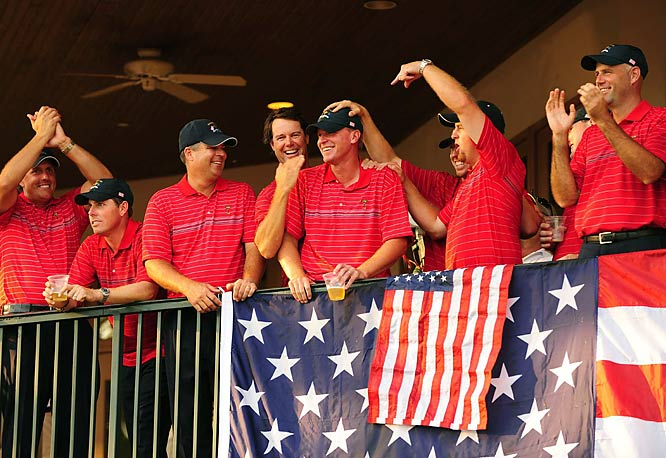 "Nominated by John Garrity<br><br> ""The six American rookies pumped more fists and trotted off more greens than any U.S. players in memory. They were the stars of a 16 1/2 to 11 1/2 rout that brought the Ryder Cup back to the States for only the second time since 1993 -- proving that experience is overrated and prompting me to nominate them for Sportsmen of the Year."""