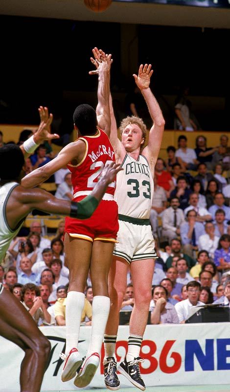 Bird averaged 25.8 points to win his third-straight MVP award, a feat only matched by Bill Russell and Wilt Chamberlain. He went on to win the NBA Finals MVP, too, as the Celtics won their third championship in six years.<br><br>Send comments to siwriters@simail.com