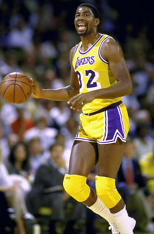 Johnson led the Lakers to the NBA Finals while averaging 18.3 points and 12.6 assists. He averaged over 15 assists in the Lakers' six-game Finals win over the Celtics.