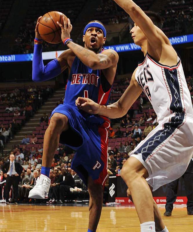 New Pistons guard Allen Iverson brings additional star power to this matchup as Detroit makes it third stop on a four-game West Coast trip in Los Angeles.