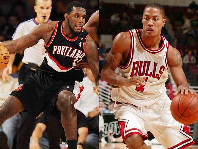 The No. 1 picks in the last two NBA drafts will be on display in front of a national television audience. Chicago point guard Derrick Rose (2008) has been as impressive as any rookie so far, while Portland center Greg Oden (2007) is settling in after missing six games with a sprained foot.