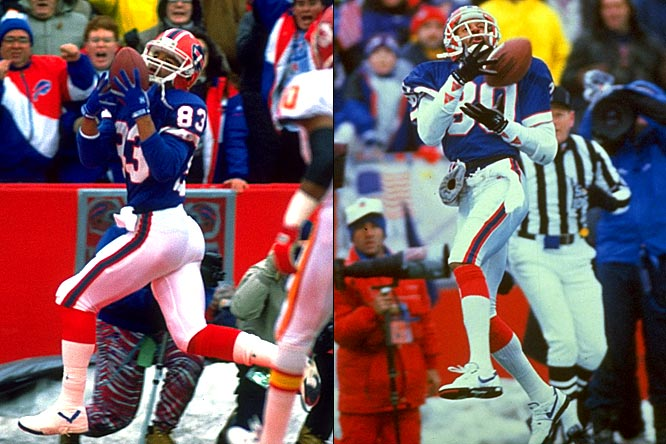 Buffalo was the third stop in Lofton's career, but he made it memorable with the opportunity to team with Reed. With Hall-of-Famer-to-be Jim Kelly delivering the ball and running back Thurman Thomas keeping defenses honest, Lofton stretched the field with his speed and Reed worked the underneath routes.
