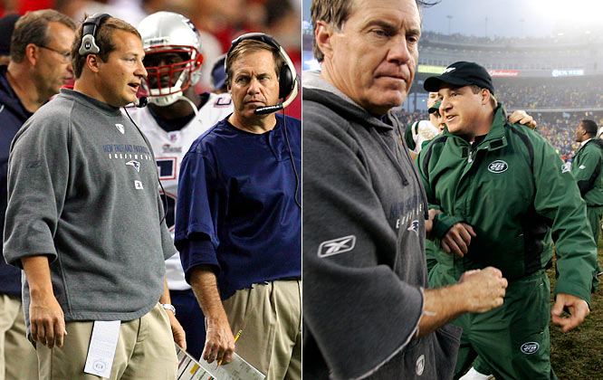 Eric Mangini began his career as a ball boy for the Bill Belichick-coached Cleveland Browns and later worked in the team's PR department. Belichick admired Mangini's work ethic and promoted him to help with the team's video scouting. He worked with Belichick at the Jets from 1997 to 1999 and then as New England's defensive backs coach from 2000 to 04 and as its defensive coordinator in 2005. After the 2005 season, Mangini was hired as the Jets' new head coach.