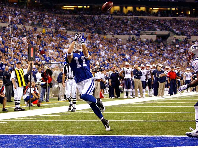 Anthony Gonzalez caught four passes for 55 yards and two touchdowns, his first two of the season, in the Colts 18-15 win over the Patriots.